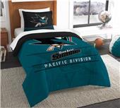 Northwest NHL Sharks Twin Comforter & Sham