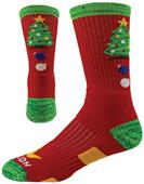 Red Lion Christmas Tree Crew Socks