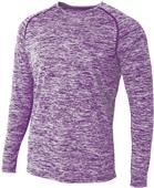A4 Adult Long Sleeve Raglan Space Dye Tee