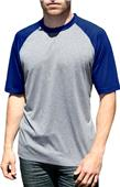 Blue Generation Adult Crew Neck Baseball Tee