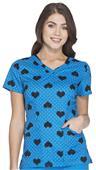HeartSoul Women's Contemporary V-Neck Scrub Top
