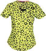 HeartSoul Womens Wild You Were Out Sunny Lime Top