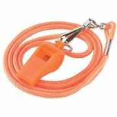 Plastic Whistle w/ Matching Color Lanyard