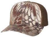 Richardson Adjustable Mesh Snap Back Camo Caps