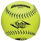 """Diamond Zulu Blue Stitch 12"""" Slowpitch Softball"""