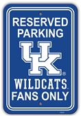 "Collegiate Kentucky 12"" x 18"" Plastic Parking Sign"