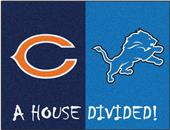 Fan Mats NFL Bears/Lions House Divided Mat