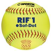 "Worth 11"" RIF 1 Sof-Dot ASA Fastpitch Softballs"