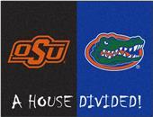 Fan Mat NCAA OSU/Florida House Divided Mat