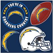 NFL Los Angeles Chargers 4 Piece Magnet Set