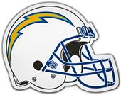 NFL Los Angeles Chargers Helmet Car Magnet