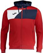 Joma Crew II Polyester Full Zip Hooded Jacket