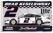 NASCAR Brad Keslowski #2 3' x 5' 2-Sided Flag