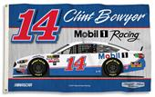 NASCAR Clint Bowyer #14 3' x 5' 2-Sided Flag