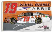 NASCAR Daniel Suarez #19 3' x 5' 2-Sided Flag