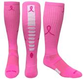 Breast Cancer Pink Ribbon Hero Knee High Socks