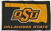 Collegiate OSU 3'x5' Flag w/State Outline