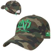 University North Dakota Relaxed Camo Cap
