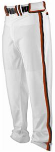 WHITE PANT, TEXAS ORANGE/BLACK BRAIDING