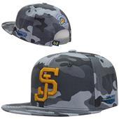 San Jose State University Camo Snapback Cap