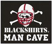 Fan Mat Nebraska Blackshirt Man Cave Tailgater Mat
