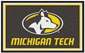 Fan Mats NCAA Michigan Tech University 4'x6' Rug