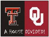 Fan Mat NCAA Texas Tech/Oklahoma House Divided Mat