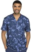 Dickies Men's Dynamix Prints V-Neck Scrub Top