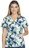 Dickies Women's Gen Flex Mock Wrap Scrub Top