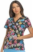 Dickies Women's Xtreme Stretch Mock Wrap Scrub Top