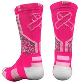 Pearsox Pink Ribbon Camo Crew Socks