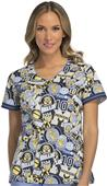 Cherokee Disney Women's Modern V-Neck Scrub Top