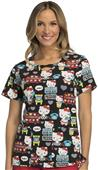 Cherokee Disney Womens Hello Kitty Scrub Top