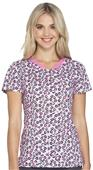 HeartSoul Womens Contemporary Fit V-Neck Scrub Top