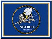 Fan Mats U.S. Navy SEABEES 8'x10' Rug