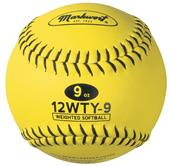 "Markwort 12"" Weighted Yellow Softballs"