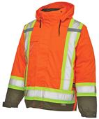 Work King Lined 5-In-1 Safety Jacket