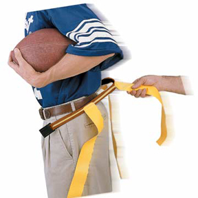 TAN BELT/YELLOW FLAG