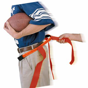 ORANGE BELT/RED FLAG