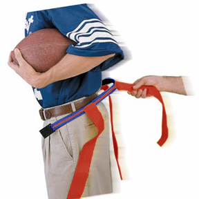 ROYAL BLUE BELT/RED FLAG