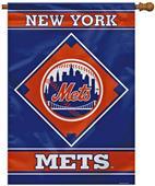 "MLB New York Mets 28"" x 40"" House Banner"