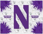 Holland Northwestern Univ Logo Printed Canvas Art