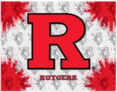 Holland Rutgers University Logo Printed Canvas Art