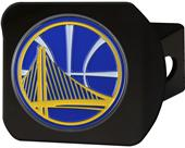 Fan Mat NBA Golden State Black/Color Hitch Cover