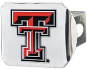 Fan Mats NCAA Texas Tech Chrome/Color Hitch Cover