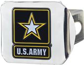 Fan Mats US Army Chrome/Color Hitch Cover