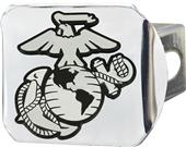 Fan Mats U.S. Marines Chrome/Color Hitch Cover