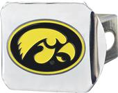 Fan Mats NCAA Iowa Chrome/Color Hitch Cover