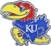 Fan Mats NCAA Kansas Colored Vehicle Emblem