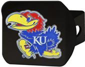 Fan Mats NCAA Kansas Black/Color Hitch Cover